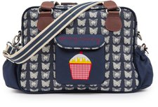 Pink Lining Wickeltasche Yummy Mummy Cream Butterflies on navy