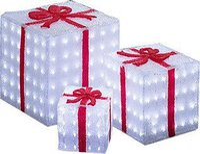 Konstsmide LED Acryl Geschenkboxen 3er-Set (6198-203)