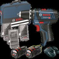 Bosch GSR 10,8-2-LI Professional 2 x 2,0 Ah + 39 tlg. Set (0 601 868 106)