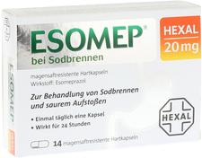 Hexal Esomep bei Sodbrennen magensaftresistent Hartkapseln (14 Stk.)