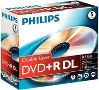 Philips DVD+R DL 8,5GB 240min 8x 5er Jewelcase