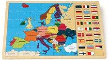 Legler Puzzle Europa m. Fahnen