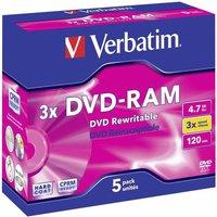 Verbatim DVD-RAM 4,7GB 120min 3x 1er Jewelcase