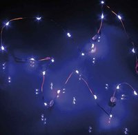 Hellum LED-Lichterkette blau 20er batteriebetrieben (570724)