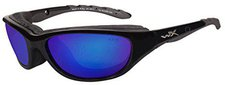 WileyX Air Rage 698 (gloss black/polarized blue mirror)