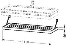 Duravit 2nd Floor Rostablage (6443)