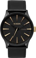 Nixon The Sentry Leather Matte Black / Gold