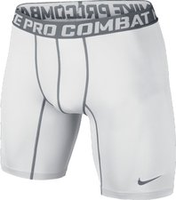 "Nike Pro Combat 6 "" Core Compression Short white / cool grey"