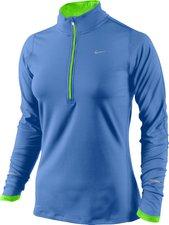 Nike Element mit Kurzreißverschluss Frauen Laufshirt blau