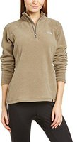 The North Face Women's 100 Glacier 1/4 Zip Fleece Pullover Weimaraner Brown Heather