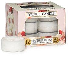 Yankee Candle Tea Lights Strawberry Buttercream (x12)