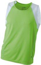 James & Nicholson Men's Running Tank Atmungsaktives Herren Tankshirt grün