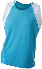 James & Nicholson Men's Running Tank Atmungsaktives Herren Tankshirt blau
