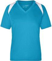 James & Nicholson Ladies' Running-T Atmungsaktives Laufshirt blau