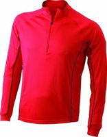 James & Nicholson Ladies' Running Reflex Shirt JN426 rot