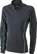 James & Nicholson Ladies' Running Reflex Shirt JN426 schwarz