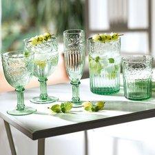 De Sina Wasserglas-Set 6-teilig grün