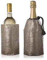 Vacu Vin Rapid Ice Champagnerkühler und Weinkühler Set Platin