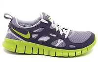 Nike Free Run 2.0 GS wolf grey/venom green/cool grey/white