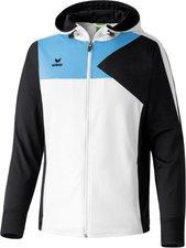 Erima Herren Premium One Trainingsjacke mit Kapuze weiß/schwarz/curacao