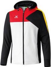 Erima Herren Premium One Trainingsjacke mit Kapuze weiß/schwarz/rot/gelb