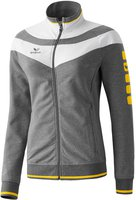 Erima Damen 5-Cubes Fashion Jacke grau melange/weiß/gelb