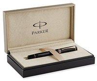 Parker Duofold Black International Fine 18K gold nib (S0690410)