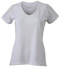 James & Nicholson Damen Laufshirt Kurzarm (JN471) white