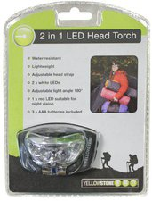 Yellowstone Anti Glare 2 + 1 LED Mini Head Torch