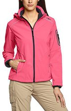 CMP Campagnolo Women Softshell Jacket Zip Hood (3A05396) Pink Fluo-Caviale
