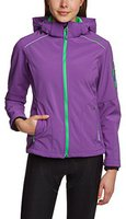 CMP Campagnolo Women Softshell Jacket Zip Hood (3A05396) Purple