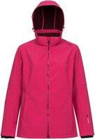 CMP Campagnolo Woman Softshell Jacket Zip Hood (3A22226) Scarlet-Porto