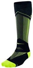Nike Elite Graduated Compression OTC Laufsocken schwarz / volt