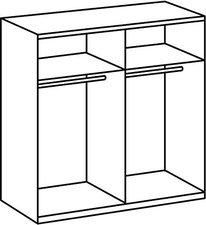 Wimex Wohnbedarf Arezzo 198x180x64cm alpinweiß Glas schwarz