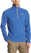 The North Face Men's 100 Glacier 1/4 Zip Pullover Fleece Dish Blue
