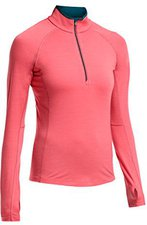 Icebreaker Zone Long Sleeve Half Zip Women grapefruit / night