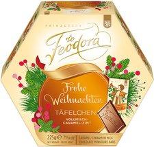 Feodora Frohe Weihnachten Täfelchen Vollmilch Caramel Zimt (225g)