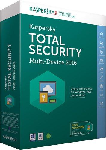 Kaspersky Total Security Multi Device 2016 (3 Geräte) (1 Jahr)