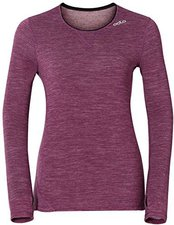 Odlo Revolution Warm Long Sleeve Crew Neck Women magenta purple melange