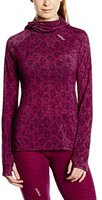Odlo Revolution TW Warm Shirt l/s with Facemask Planai Women magenta purple