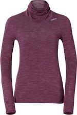 Odlo Revolution TW Warm Shirt L/S Turtle Neck Women magenta purple melange