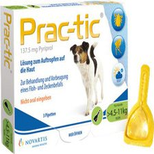Novartis Prac tic f. kleine Hunde 4,5 - 11 kg Einzeldosispipetten (3 Stk.)
