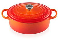 Le Creuset Signature Bräter oval 25 cm ofenrot