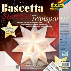 Folia Bascetta Stern Bastel-Set weiß (30x30 cm)