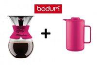 Bodum Pour Over 1,0 l pink