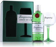 Tanqueray London Dry Gin mit Copa Glas 0,7l 47,3%