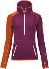 Ortovox Fleece (MI) Zip Neck Hoody Dark Very Berry