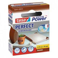 Tesa extra Power Perfect Gewebeband 2,75m x 19mm braun