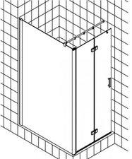 Kermi Diga Walk-In Duschwand mit Pendel-Falttür links (Typ T2L)