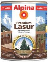 Alpina Farben Premium Lasur für Außen weiss 2,5 L